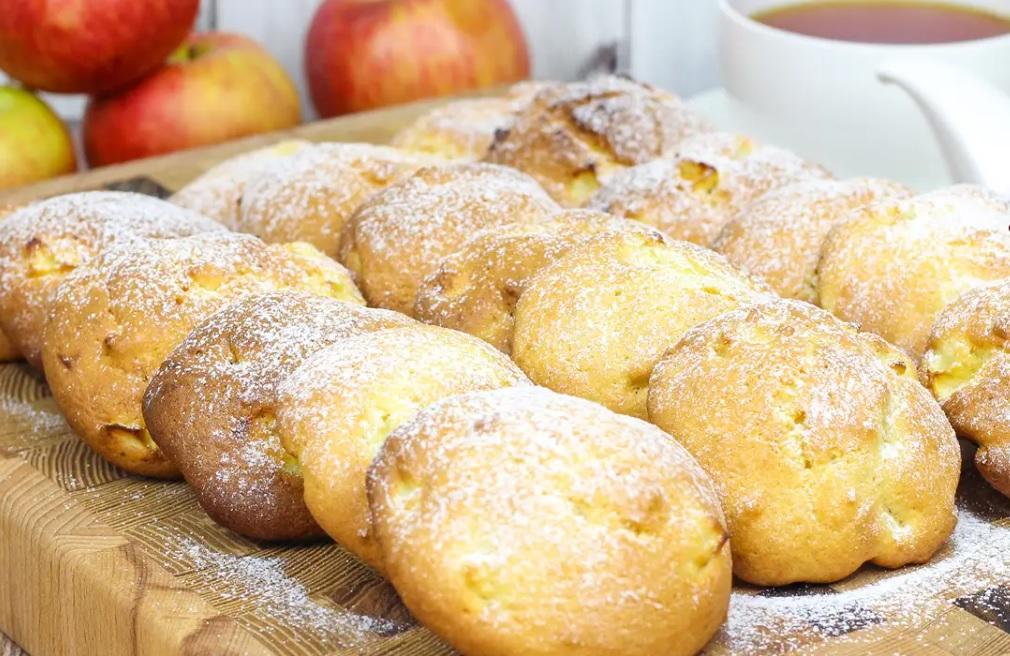 Песочное печенье с яблоками: простой, быстрый и очень вкусный десерт. (Делюсь рецептом)